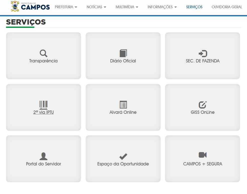 Campos dos Goytacazes portal do servidor